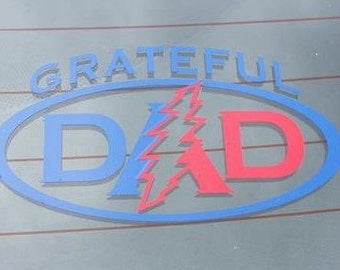 Free Shipping - Grateful Dad Car Decal - Grateful Dead - Customized - Car Decal - Father's Day - Gift for Dad - Grandpa - Vinyl Decal - Gift