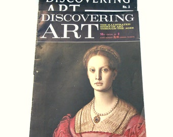 Two Discovering Art Magazines, Discovering Art 16th Century No 2 and Discovering Art No 3, Vintage Art Magazine, Vintage Art History