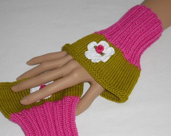Wrist warmers - hand warmers - cuff