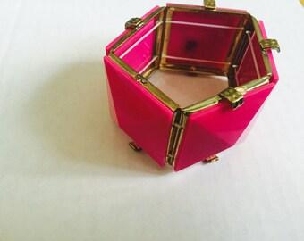 Pink Chunky Bracelet