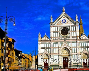 Italian Photography of a Church in Florence