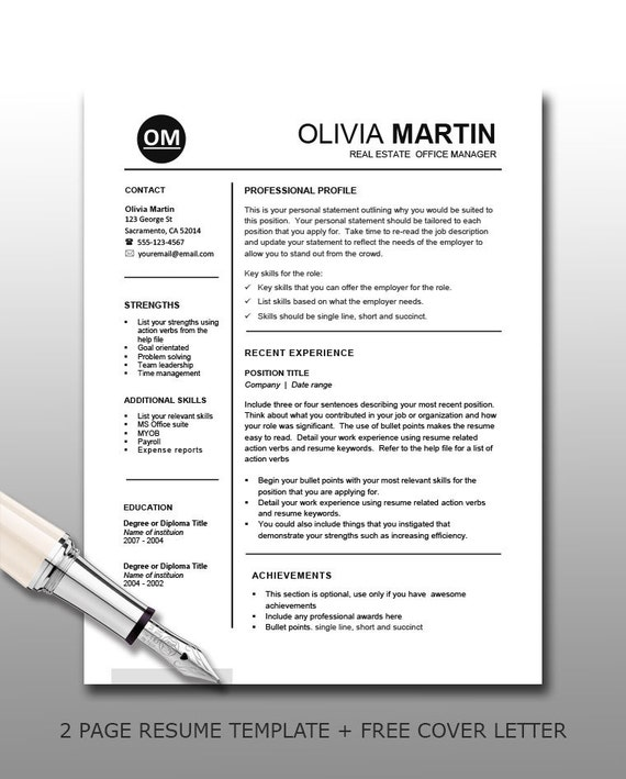 teacher resume template with free cover letter resume