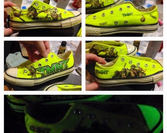 Custom Ninja Turtles Converse shoes
