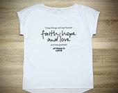 Gorgeous White Straight Fit Top Faith  Hope  #LOVE