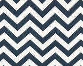 Premier Prints ZigZag Chevron in NavyTwill Home Decor fabric, 1 yard