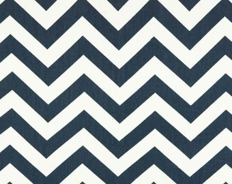 Premier Prints, Upholstery Fabric, Zig Zag, Chevron, Geometric Fabric, Navy, Blue, Twill, Curtain Fabric, Home Decor fabric, FAST SHIPPING