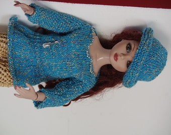 Ellowyne Wilde all dress and hat blue and silver