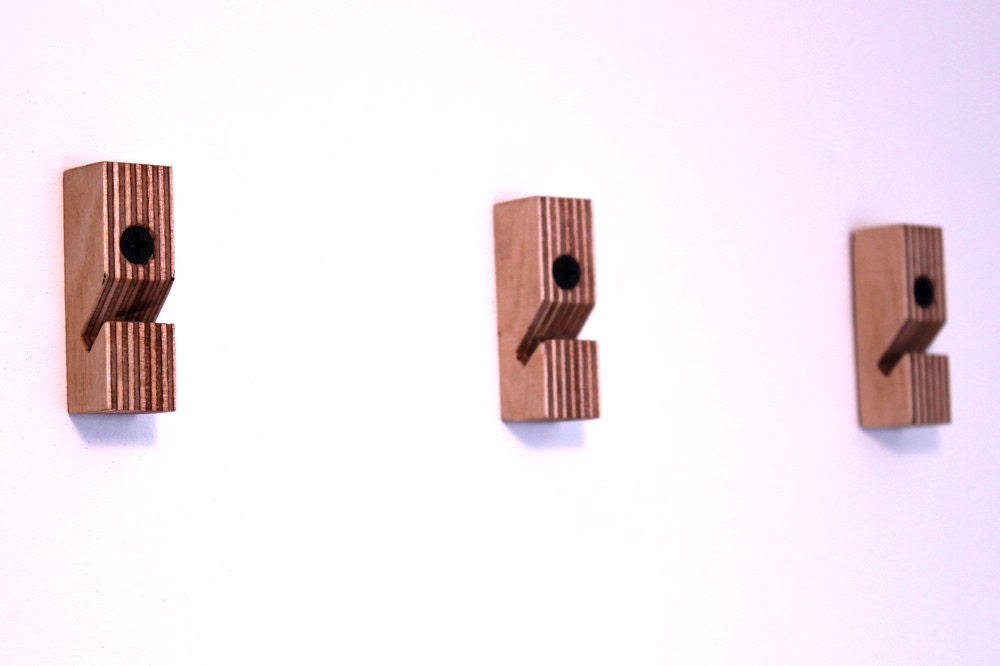 Birch Plywood Wallhooks Set Of Three