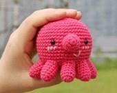 Amigurumi Octopus, PDF File, Handmade, Doll, Cute, Lovely, Home Living, Hobby, Crochet Stitch, Wolen Yarn, Crewel, Octopus Doll