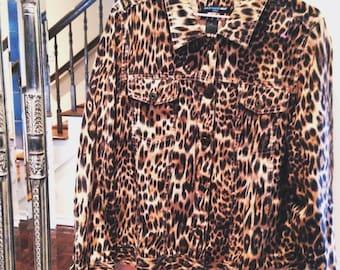 Vintage Saint Tropez West Leopard Jacket