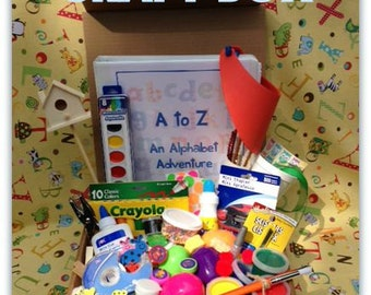 Craft Kit for Kids- Alphabet Adventure Craft Box - 52 Projects