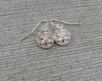 Sand Dollar Drop Earrings