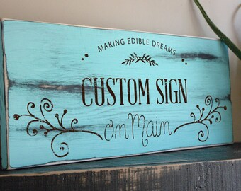 Rustic Custom Wood Signs with Your Own Quote, Phrase or Message, Custom SIgns, Wooden Signs, Up to 24 Inches