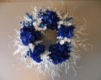 Winter Silk Flower Wreath