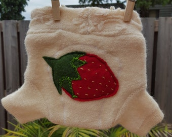 Wool Soaker-Strawberry Design