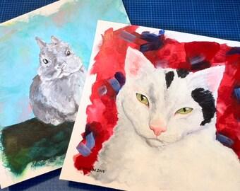 Pet Portraits! 6 x 6 inch