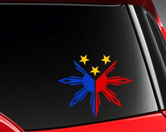 Filipino Black Tshirt With Philippine Flag  Colors Th - Custom vinyl decals for t shirt philippines