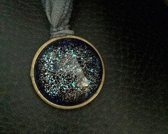 Galaxy Pendant Ribbon Necklace