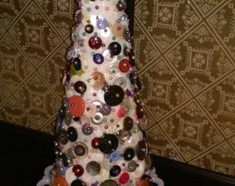 Handmade button tree