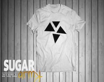 Triangles shirt, geometrics shirt, geometric signs shirt, math shirt, mathematics shirt, geek shirt, nerd shirt, hipster shirt, 100% cotton