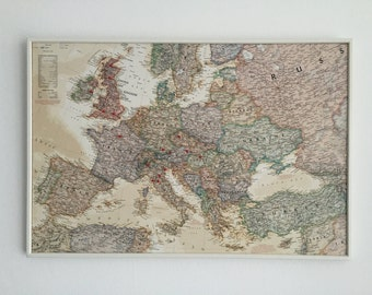 Map pin board etsy europe map pin board gumiabroncs Image collections