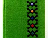 Green Bound Journal / Zapatista mujeres por la dignidad handmade fabric