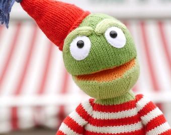 Knitting pattern POLDI THE FROG