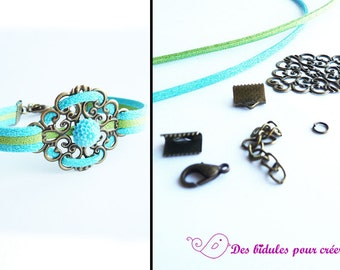 Kit DIY bracelet blue and green