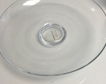 """Glass Footed Plate 12.5""""D"""