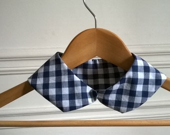 Col Claudine blue gingham
