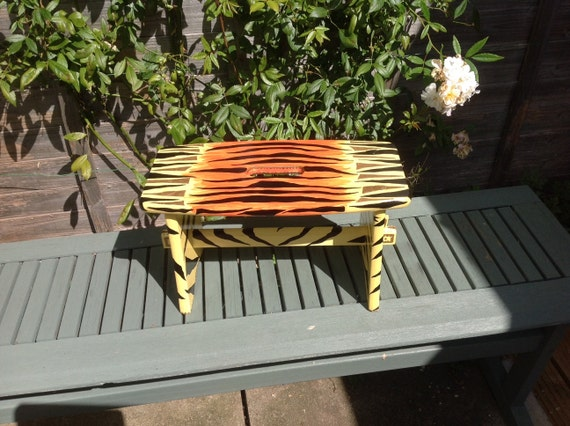 Ooak Tiger Animal Print Painted Children S Wooden