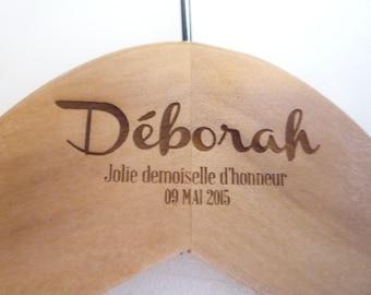 1 hanger wedding custom front engraving