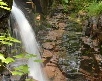 Avalanche Falls at The Flume Gorge