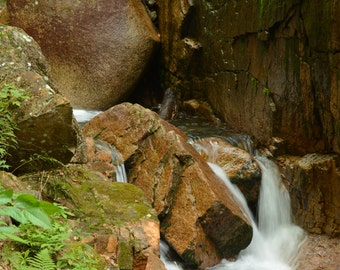 Small Waterfall at The Flume Gorge
