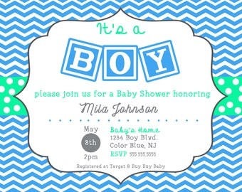 It's a Boy Baby Shower invite