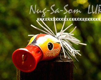 Popper wood Handmade fishing lure (Black Mandarin duck male) by Pe lure painter number 1 in Thailand