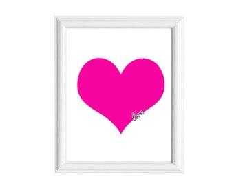 8x10 Art Print | Written on My Heart | Bedroom Decor | 11x14 Print