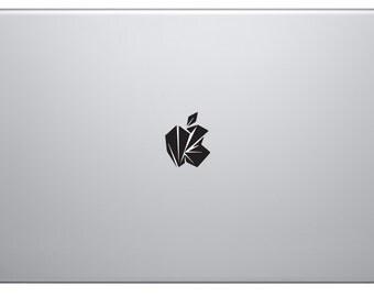 Distressed Apple Decal - Laptop Sticker - Macbook Apple Vinyl Sticker Decal - Computer Apple Tablet Ipad Surface Electronics