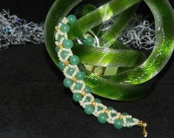 "FT247 Jade Hugs and Kisses Bracelet, Size  7.5"""