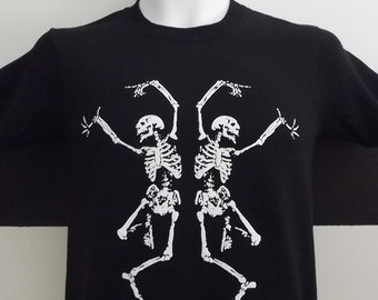 Halloween T-Shirt Dancing Skeletons. 100% Cotton