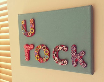 U Rock Canvas Button Art