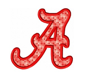 Alabama Applique Embroidery Design 2x2 4x4 5x7 6x10  INSTANT DOWNLOAD