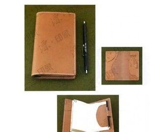 Pattern template wallet passport leather handmade