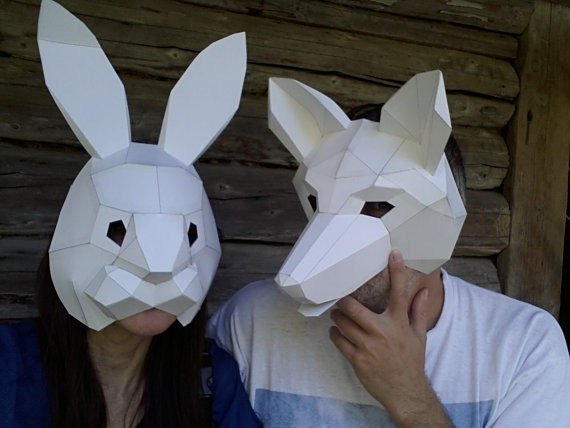 Diy Halloween Mask Make Your Own Rabbit Mask From