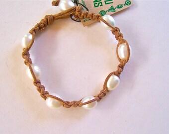 Pearl Woven Bracelet