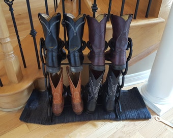 Horseshoe Boot Rack (Holds 4 pairs of boots, various sizes)