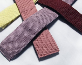 Square Bottom Cotton Knit Ties