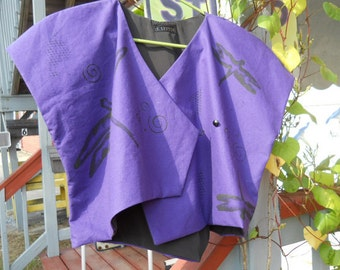 Purple Dragonfly Asymetrical Vest