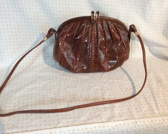 Snake Skin Purse , Caramel Color