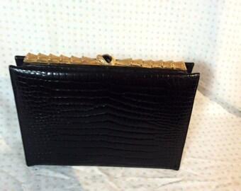 Caprice 1960's clutch, with bronze closure